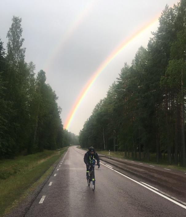 Mirka Venturini SUb610 2019, with rainbow